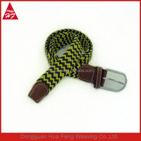 2015 mens webbing elastic brand name belts