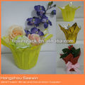 Clear/Printed/Colorful Pearlized BOPP Film corner flower pot