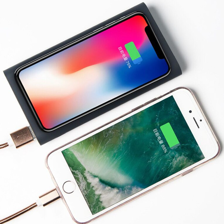 Wireless 10000Mah Phone Power Bank Wireless Charger Power Bank For Iphone X