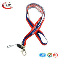 High quality factory custom logo retractable lanyard with card