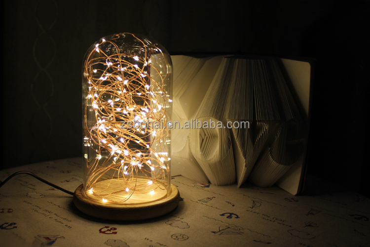 Wholesale 2016 led copper silver wire led string lights for bottle