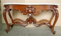 Console Table with Marble Mahogany Indoor Furniture