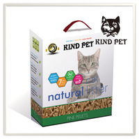 premium dust free eco-friendly good clumping pine wood cat litter