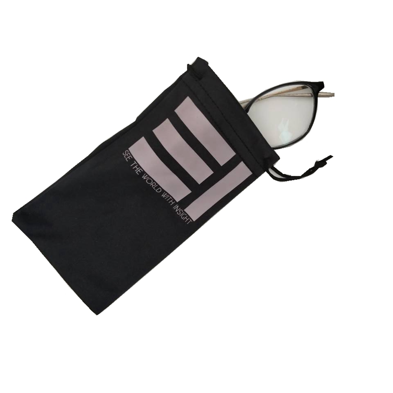 Factory price promotional cheap bulk high quality microfiber drawstring glasses pouch