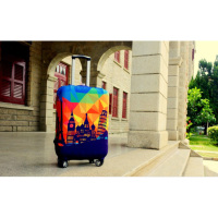 Luckiplus High Elastance Spandex Luggage Cover Modern City Design