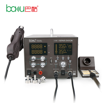 BAKU ba-9305L New Product Bga Smd Soldering 3 in 1 Desoldering Station With Hot Air Welding Gun For Repair Cellphone