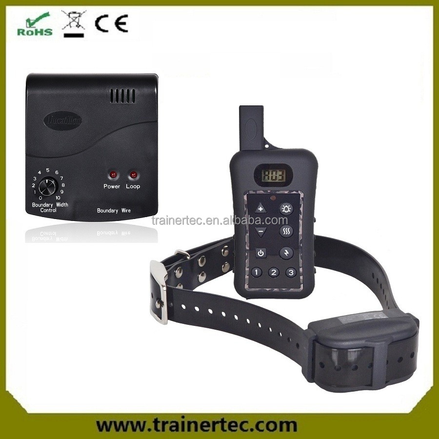 rechargeable and waterproof electric decorative dog fences , 1000 meter remote dog training collar