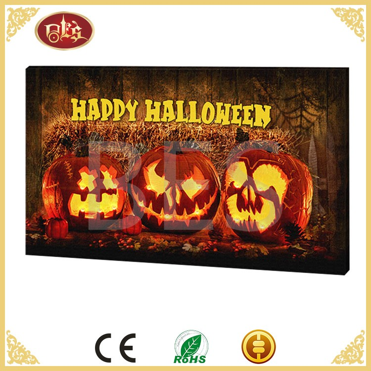 Halloween canvas art,wall art pictures for hotels,cartoon wall picture