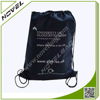 Cheap Black Waterproof Nylon Drawstring Bag