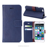 Stand wallet leather mobile phone case for iphone 6, OEM/ODM leather case for iphone 6