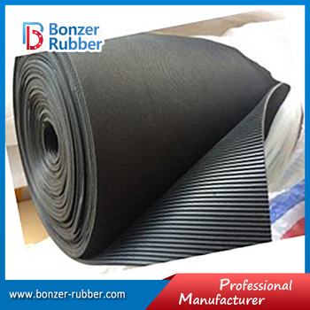 Nanjing Bonzer black color commercial grade fine rib floor mat