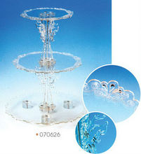 Wedding Acrylic 3-layer Transparent Cake Decoration/Cake Display Stand