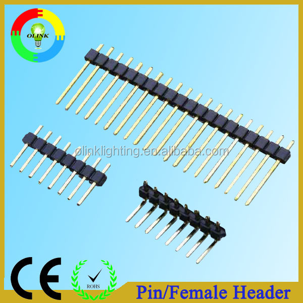 Through-hole/SMT gold-plated smd pin header
