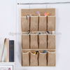 Non-woven 12 pocket hanging shoe organizer