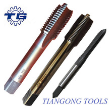 Tiangong tools manufacture HSS M35 spiral pointed machine tap with straight shank