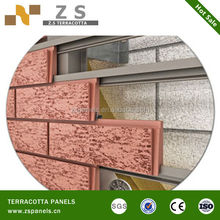Dry hanging system clay split brick wall terracotta tile, Facade caldding wall panels, wall decorative klinker facade tile