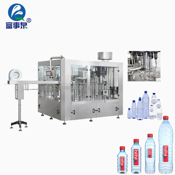 Factory supplying automatic drinking pure mineral distilled water bottling plant