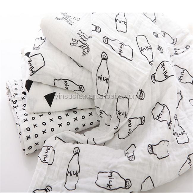 babydecke 100 nat rliche baumwolle gedruckt baby musselin. Black Bedroom Furniture Sets. Home Design Ideas