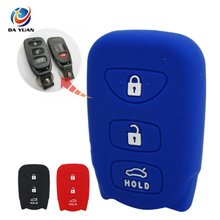 AS064006 For Hyundai Tucson Elantra Accent SANTA Silicone Car Key Case Cover 3 Button