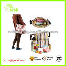 Multi-functional nylon quilted tote mother bag