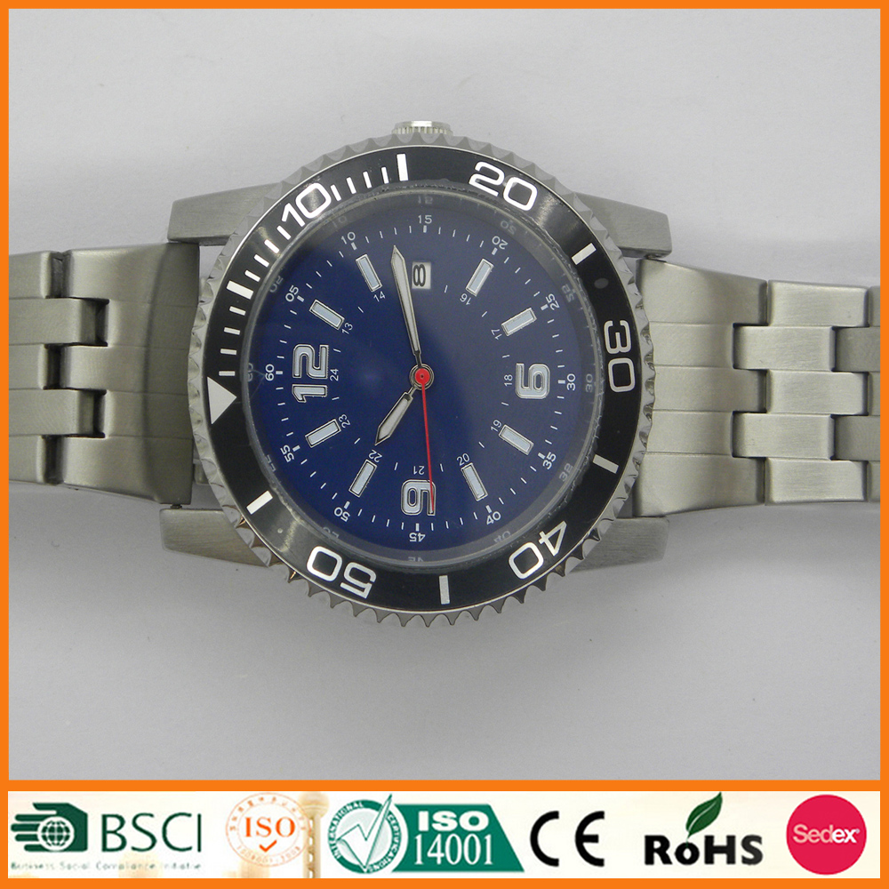 Sport Man Promotional Watch Japanese Quartz Movement Date FunctionStainless Steel Strap SYM140030