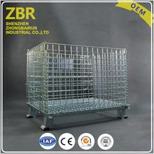 Logistic equipment products collapsible metal stillage large baskets storage box container for warehouse
