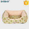 Kikiland new design green printing wooden dog bed for wholesales