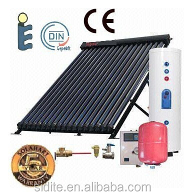 200L small separate pressure white industrial solar water heater drawing