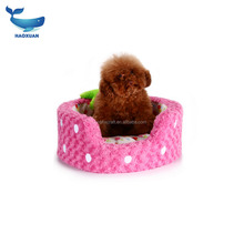 Strawberry shaped lovely dog bed and cushion