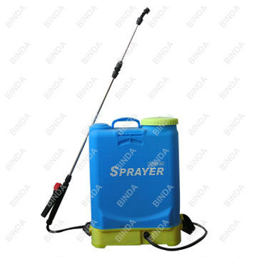 Battery power knapsack sprayer for agricultural use