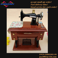 2014 best-seller new arrival gift antique sewing machine plastic music box