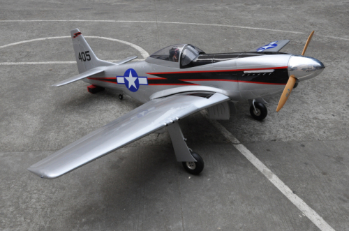 Mustang rc fiberglass model airplane with Air retract landing gear for sale