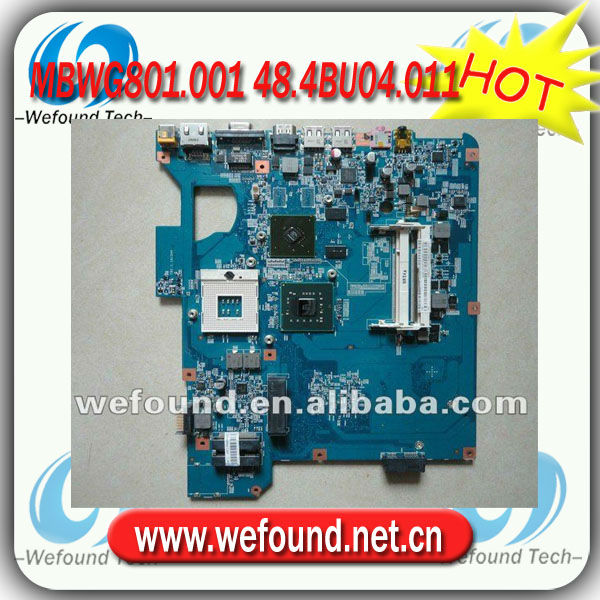 Hot sale 100% working laptop motherboard For acer Gateway TJ65 TJ68 MS2273 PM45 MBWG801.001 48.4BU04.011