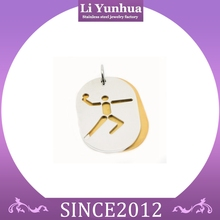 Stainless steel jewelry new design basketball pendant laser cut pendant