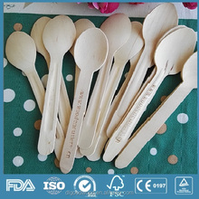 Disposable Eco-friendly Wooden Cutlery Silverware custom printed spoon