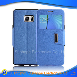 tpu pu leather flip cell phone case for Samsung NOTE 6\7 mobile phone case