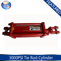 The red color hydraulic telescopic cylinder for sale