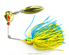 Spinner buzz bait colorful skirts fishing lure metal spoon Lure 16.3g fishing lures