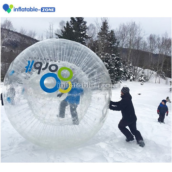 Clear pvc inflatable zorb ball people roll inside ball