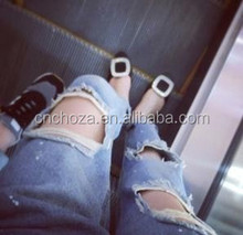 Z56590A Newest skinny urban loose ripped high waisted jeans