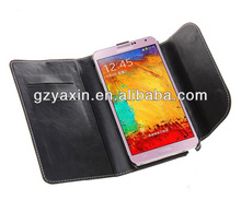 China popular products cell phone leather cover for Samsung Galaxy Note3
