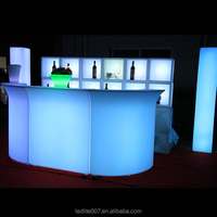 Waterproof led bar furniture/portable bar counter/used portable bar