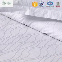 brand name bed sheet white jacquard water ripple 40x40s T250 bedding sets
