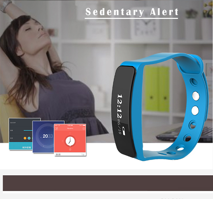 "BT activity tracker wristband with 0.86"" OLED screen heart rate monitor wrist pedometer watch"