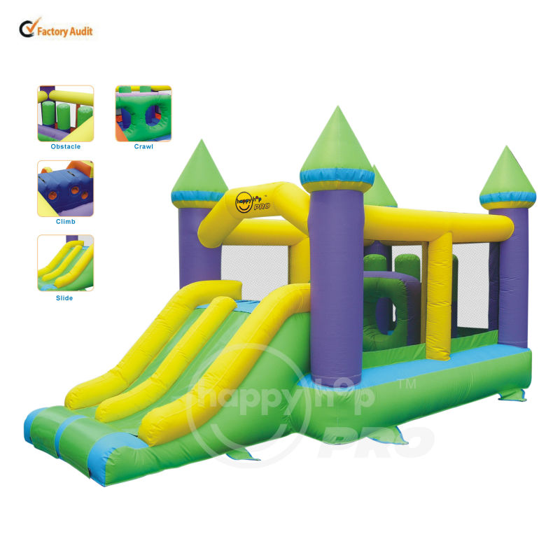Happy Hop ProJumping Castle Commercial Bouncers-1006B Inflatable Rental Super Bouncer and Slide Castle