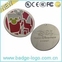 Large Round Name Plate Collar, Zinc Alloy Dog Tag Manufacturer