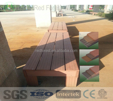 portable wood plastic composite bench/outdoor wpc bench