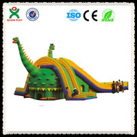 thickness 5mm PVC and blower material giant inflatable dinosaur bouncer (QX-115G)