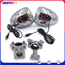 Waterproof Motorcycle FM audio mp3 stereo speaker with RCA terminal