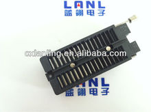 2.54mm pitch black zif socket connector with good quality